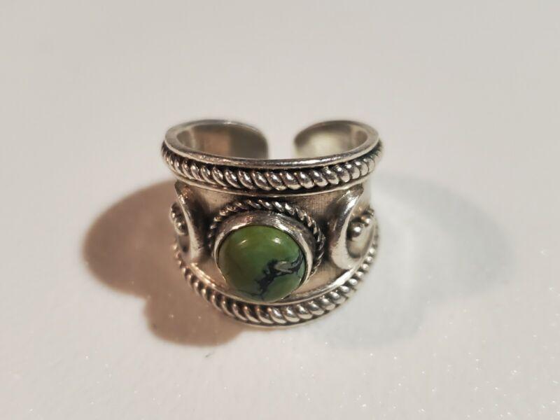 Silver 925 Indian Naja Symbol Turqouise Ring ~Size Unknown~