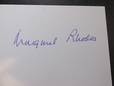 THE HON. MARGARET RHODES - QUEEN ELIZABETH II COUSIN HAND SIGNED PHOTOGRAPH