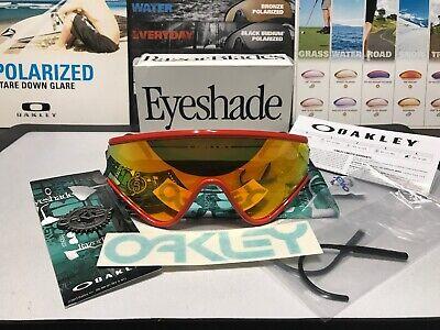 Oakley Eyeshade Red w/ Fire Iridium - NIB Heritage Collection SKU 9259-05
