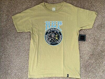 HUF Worldwide Warfare T Shirt Olive Medium New With Tags