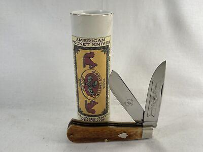2007 GREAT EASTERN CUTLERY Model 73 Jigged Honey Bone Scout MINT IN TUBE