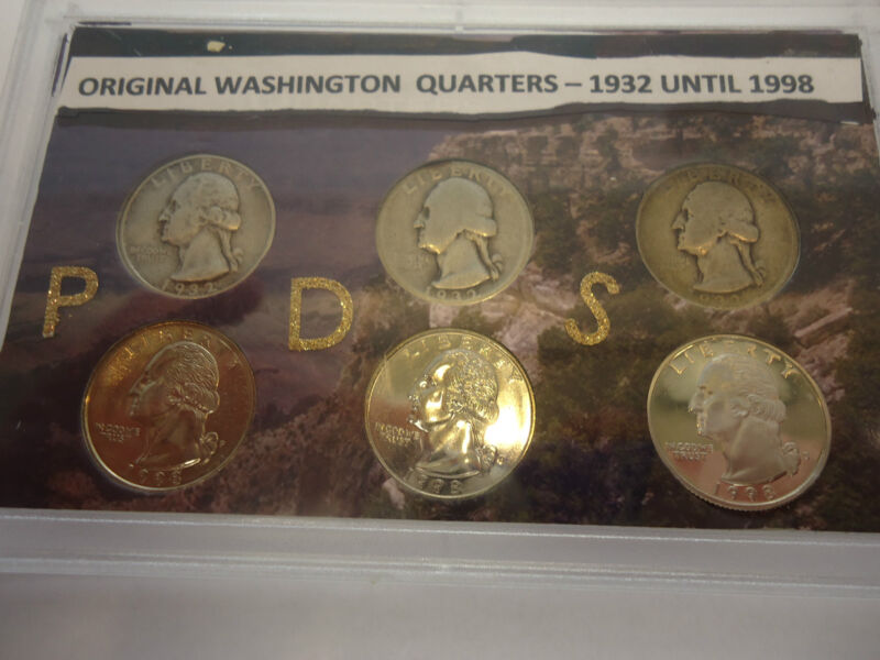 ORIGINAL WASHINGTON QUARTERS SET (NICE)