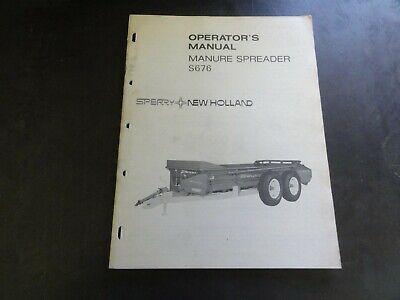 New Holland S676 Manure Spreader Operators Manual  42067611