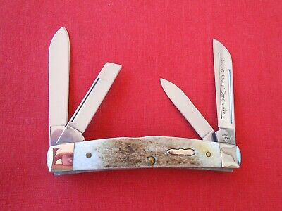 C. PLATTS & SONS 64052 4 BLADE CONGRESS STAG HANDLES 2005 KNIFE