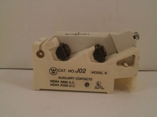 WESTINGHOUSE AUXILIARY CONTACT J02