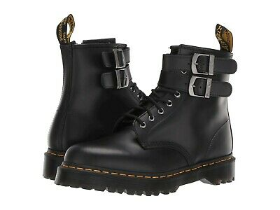 Women's Shoes Dr. Martens 1460 ALT Leather Buckle Boots 24633001 BLACK SMOOTH Smooth Womens Boots