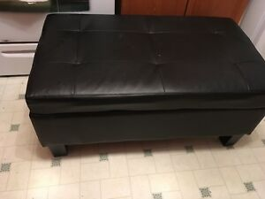 Black Ottoman good storage