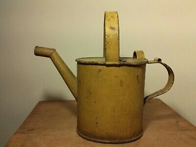 """Metal Decorative """"Christmas Greens"""" Canister Pitcher Vase Utensil with Handle."""