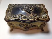 Antique Metal Trinket Box