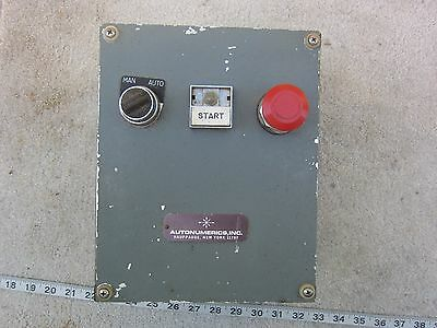 Autonumerics Man-auto Start Stop Control Station Enclosure Box Used