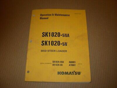 Komatsu Sk1020-5na  Sk1020-5n Skid Steer Loader Operation Maintenance Manual