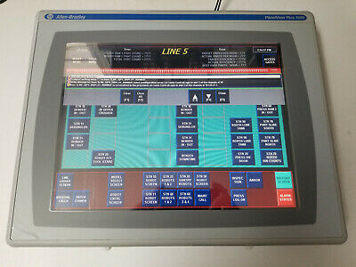 Allen Bradley 2711p-t15c4d2 Series A Panelview Plus 1500 Color Touch
