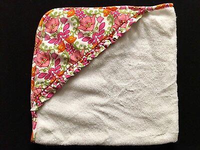 "Vera Bradley ""Lilli Bell"" Infant Baby Girl Pink Flower Hooded Towel ](Flower Hooded Towel)"