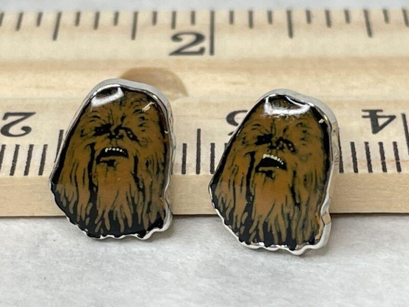 Chewbacca Enamel Stud Earrings Star Wars Disney Lucas Films LFL