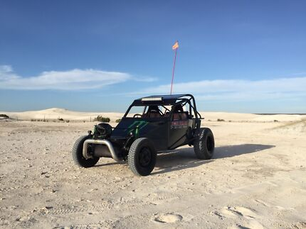 Custom Dune buggy and trailer