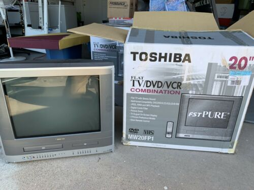 "New Open Box Toshiba MW20FP1 20"" inch TV DVD VCR Combo Retro Gaming CRT"