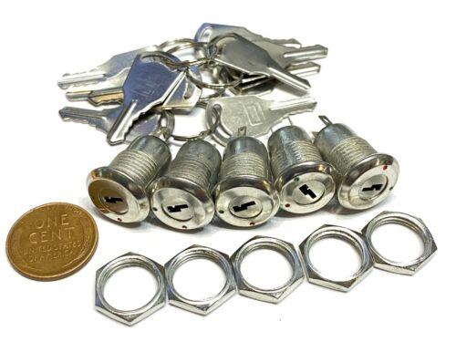 5 sets metal key switch ks-02 on/off security lock 12v 6v 250v Electronic B10