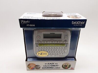 Brother P-touch Pt-d210 Handheld Self Adhesive Sticker Tape Label Maker Printer