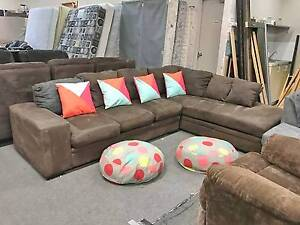DELIVERY TODAY LUXURY CHOCOLATE L shape lounge couch sofa SALE Belmont Belmont Area Preview