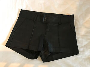Black leather shorts, size 6 Edgecliff Eastern Suburbs Preview
