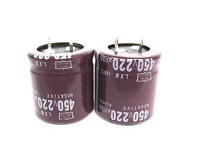 2pcs Electrolytic Capacitors 450v 220uf Volume 30x30 Mm 220uf 450v