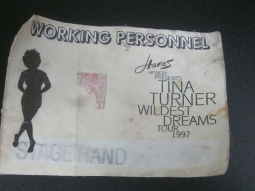 Tina Turner Wildest Dreams Tour 1997 Working Personnel Stage Hand Label-used