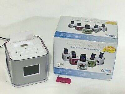 iPod iTouch iPhone Venturer CR8030iE5 Dual Alarm Clock Radio Dock w/ Adapter