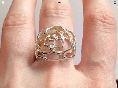Stirling Silver Flower Ring