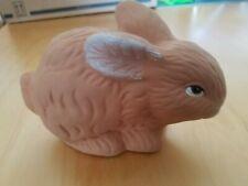 ca Keramik Hase cremeweiß hochglänzend perlmut Osterdeko 20 cm hoch