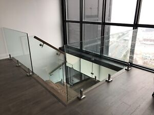 Modern Glass Railings interior and exterior