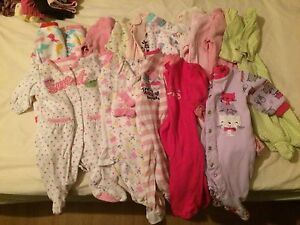 Baby girl NB and 0-3mth clothing lot