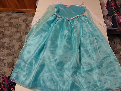 DISNEY STORE FROZEN MOVIE ELSA DRESS UP GOWN HALLOWEEN COSTUME  7   8