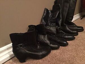 Short boots and high boots. All leather