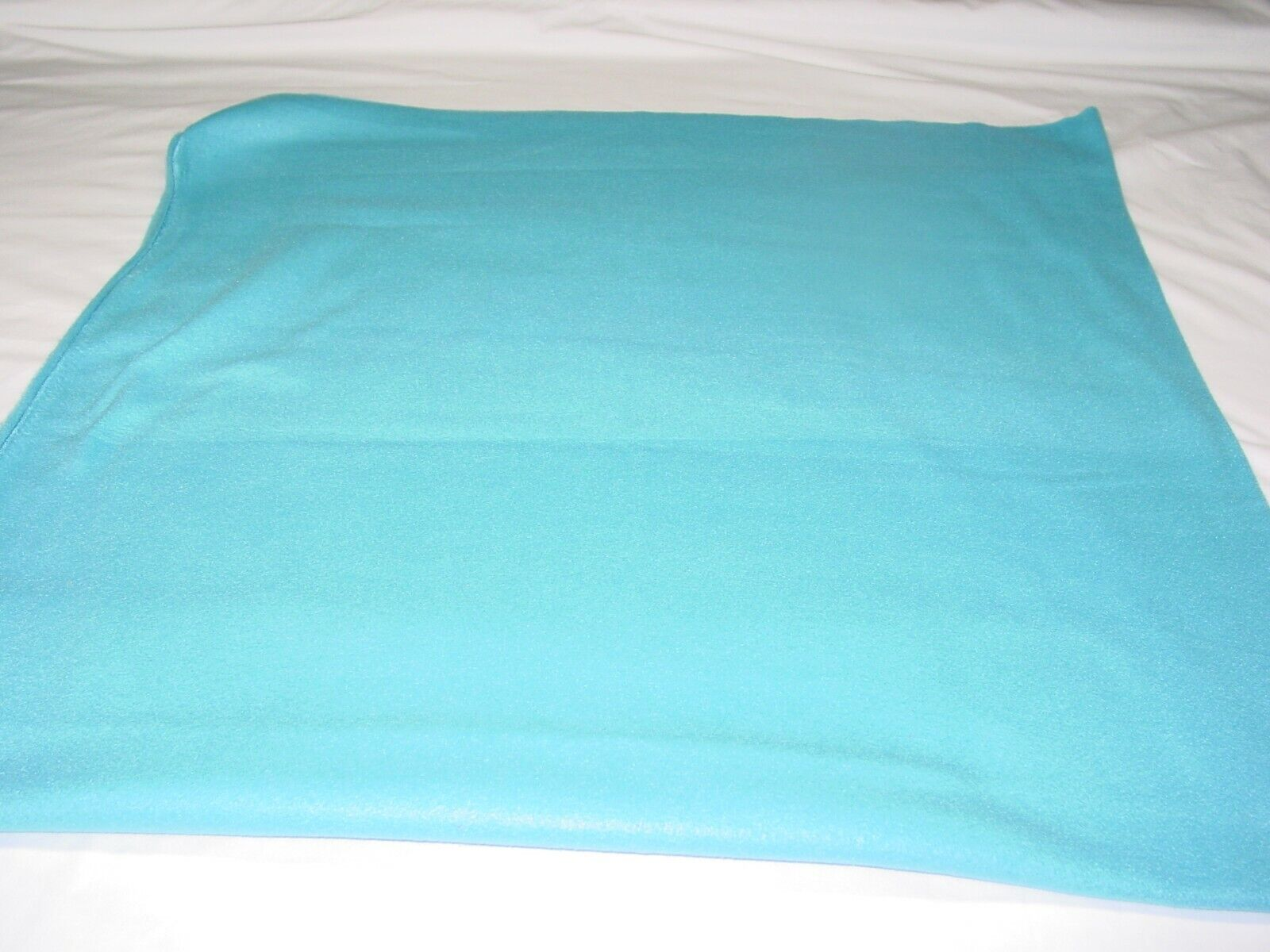 FLEECE TURQUOISE SOLID FABRIC REMNANT LENGTH 34 X WIDTH 61  - $13.50