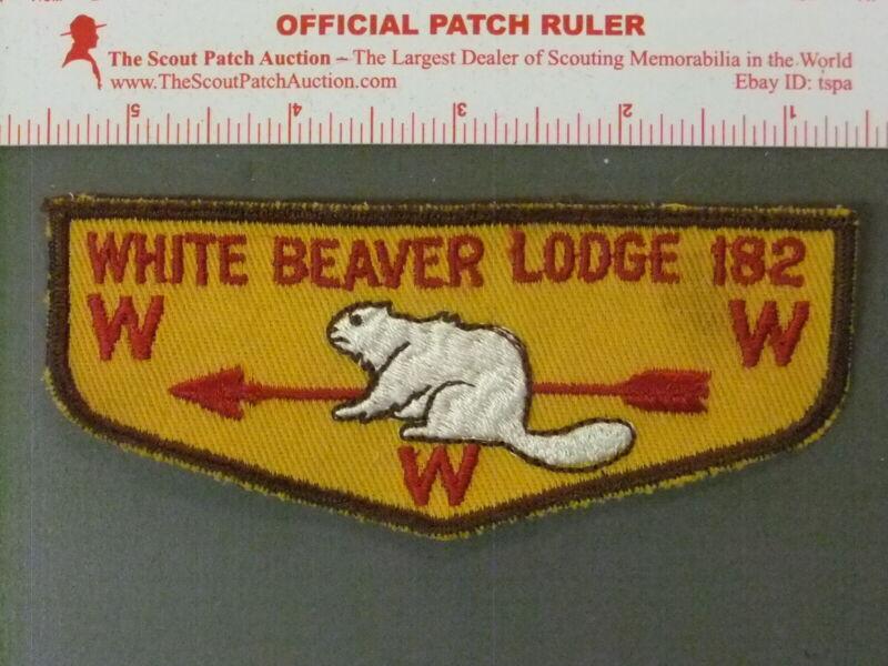 Boy Scout OA 182 White Beaver flap 4004JJ