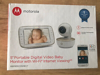 "Motorola MBP855 Connect Video Baby Monitor 5"" Display CHEAPEST ✔️FAST DELIVERY✔️"