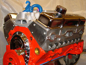 350 chevy high performance balanced crate engine with rhs aluminum heads ebay. Black Bedroom Furniture Sets. Home Design Ideas