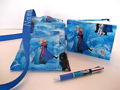 Disney Frozen  Autograph Book bag pen book bag with lanyard strap pins