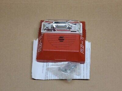 Wheelock Ns-121575w-fr Fire Alarm Hornstrobe Red Wall Mount 1575cd 12vdc