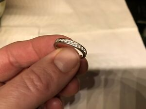 .25 Diamond 10k White Wedding band