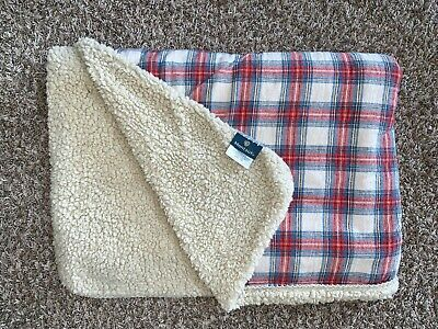 Montauk Plaid Checkered Sherpa Fleece Cozy Throw Blanket Christmas Holidays