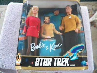 Barbie and Ken 30th Anniversary Star Trek Dolls 1996 NIB
