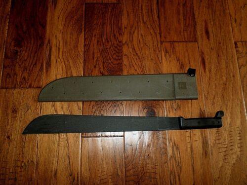 "U.S MILITARY MACHETE AND SHEATH 18"" INCHES U.S.A MADE ONTARIO KNIFE CO"