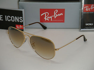 Ray Ban  Aviator 3025 RB 3025 001/51 58mm Gold Frame with Brown Gradient (Rayban Aviator 3025 001 51)