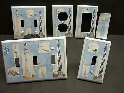 NAUTICAL LIGHTHOUSE IMAGE #25   HOME DECOR LIGHT SWITCH COVE