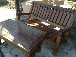 Solid Wood Bench and Table