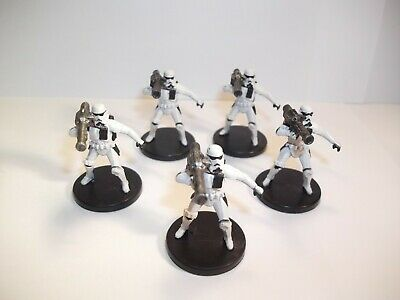 Star Wars Miniatures - x5 Shock Trooper 20/40 - IE - No Cards - Imperial