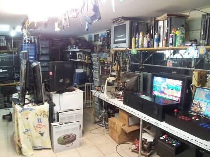 television repairs, video repairs,  arcade machine repairs, vcr