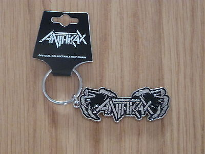 ANTHRAX - DEATH HANDS  BLACK ENAMEL  METAL KEYRING (NEW) OFFICIAL BAND MERCH