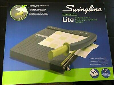 Swingline Paper Trimmer Guillotine Paper Cutter 12 Cut Length 10 Sheet Cap